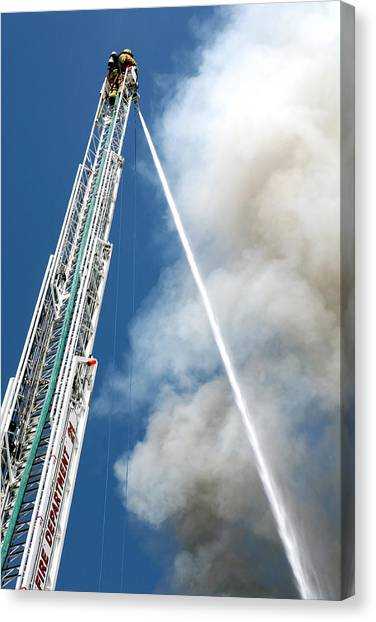 Four Alarm Blaze 001 Canvas Print