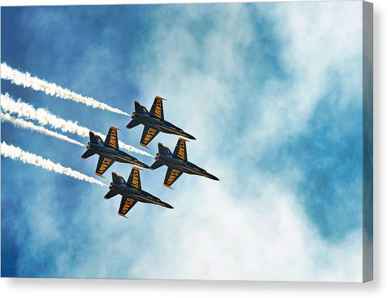 Four Blue Angels  Canvas Print