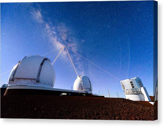 Four Lasers Attacking The Galactic Center Canvas Print
