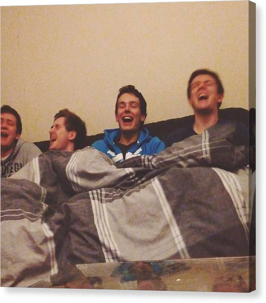 Songbirds Canvas Print - Four Lonely Boys Just Having Some Fun by Rob Green