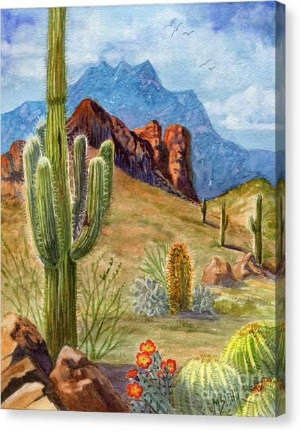 Four Peaks Vista Canvas Print