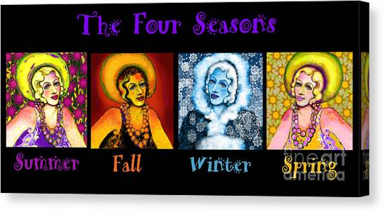 Four Seasons In A Row Canvas Print