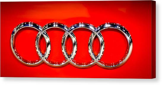 Four Silver Rings Canvas Print
