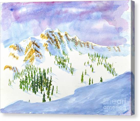 Four Sisters At Snowbasin Canvas Print