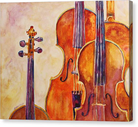 Four Violins Canvas Print