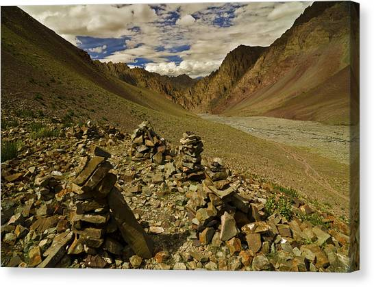 Himalayas Canvas Print - Four Who Remember by Aaron Bedell