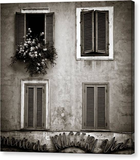 Flower Shop Canvas Print - Four Windows by Dave Bowman