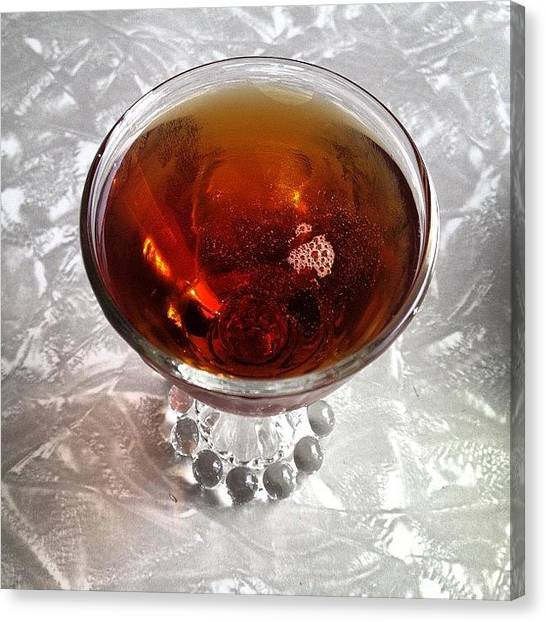 Whiskey Canvas Print - Fourth Regiment Cocktail #rye #whiskey by Zeke Rice