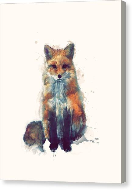 Small Mammals Canvas Print - Fox by Amy Hamilton