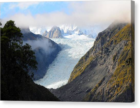 Fox Glacier Canvas Print - Fox Glacier New Zealand by Peter Tyson