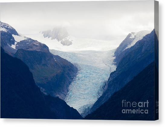 Fox Glacier Canvas Print - Fox Glacier On South Island Of New Zealand by Stephan Pietzko