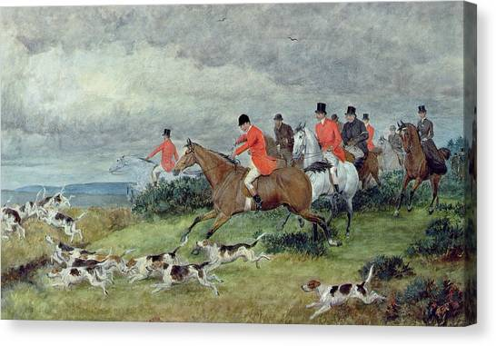 Paws Canvas Print - Fox Hunting In Surrey by Randolph
