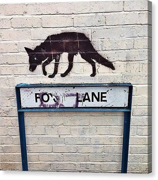 Foxes Canvas Print - Fox Lane #cardiff #graffiti #streetart by Gareth Thompson