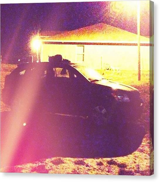 Foxes Canvas Print - #fox On A #car Oh Hey #swiper Whatcha by Melissa Garcia
