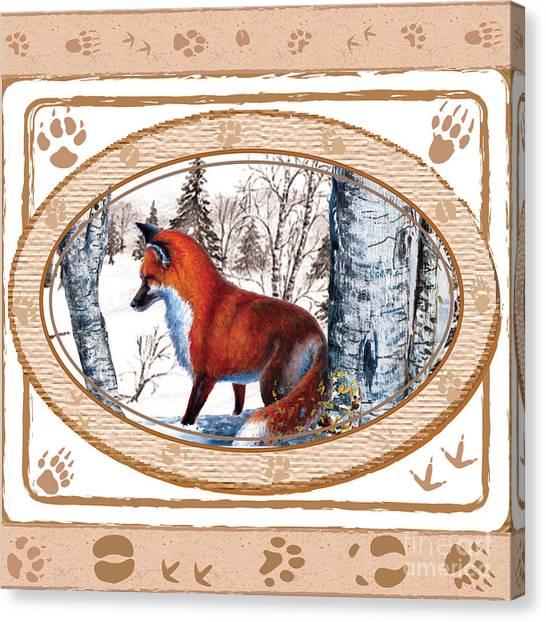 Fox On The Trail Canvas Print