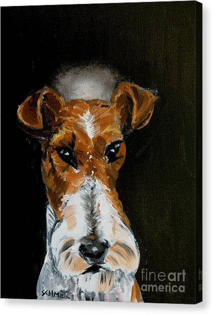 Fox Terrier Angel Canvas Print by Jay  Schmetz
