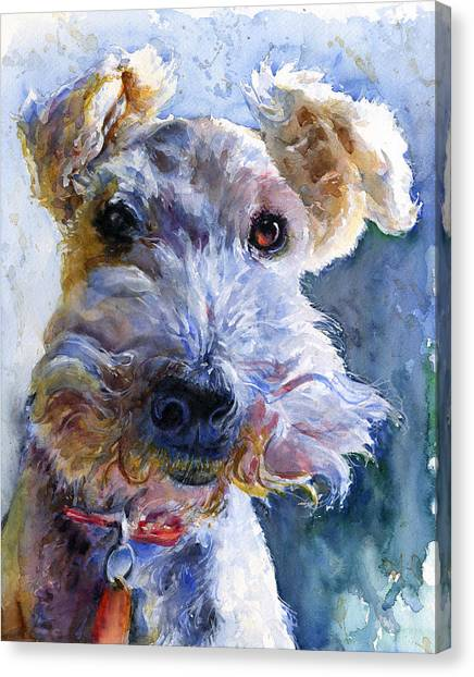 Fox Terrier Full Canvas Print