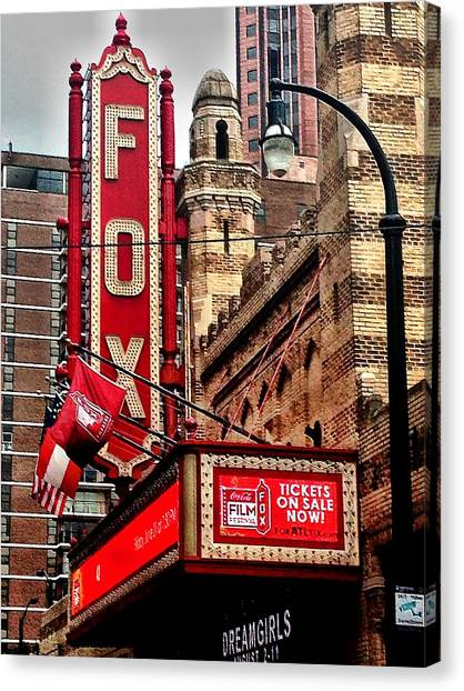 Canvas Print featuring the photograph Fox Theater - Atlanta by Robert L Jackson