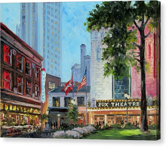 Fox Theatre Saint Louis Grand Boulevard Canvas Print
