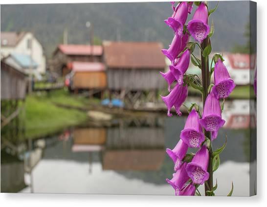 Foxglove Flowers Canvas Print - Foxgloves, Digitalis, Flowers Bloom by Erika Skogg