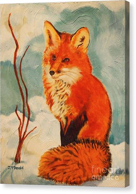 Foxy Presence Canvas Print