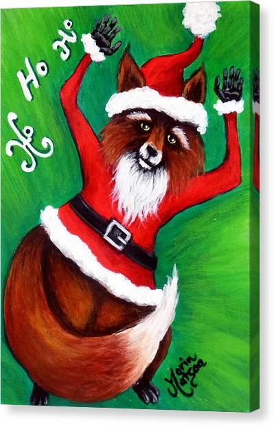 Foxy Santa Canvas Print