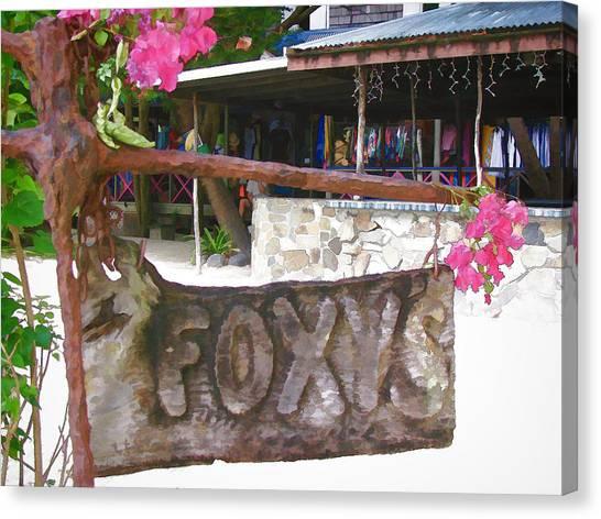 Foxy's 2 Canvas Print