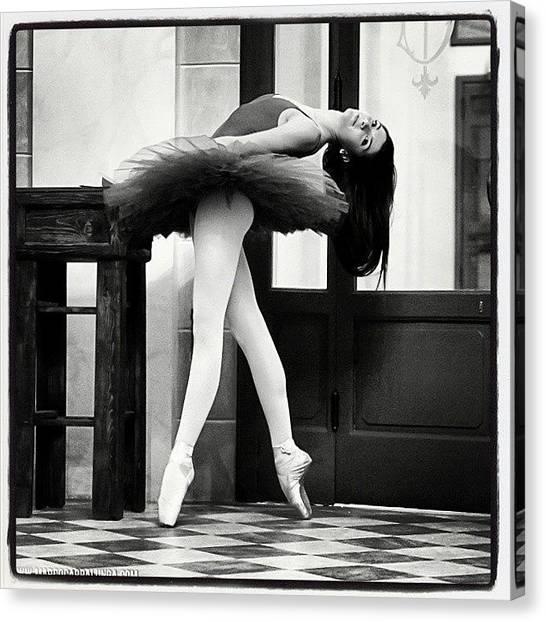 Ballerinas Canvas Print - Foyer Teatro Goldoni, Livorno #dance by Marco Cappalunga