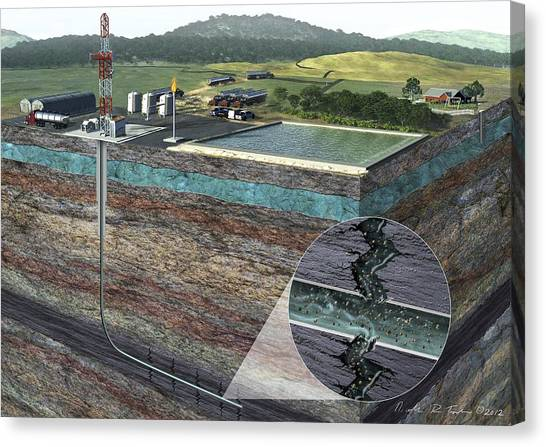 Fracking Canvas Print - Fracking Process by Nicolle R. Fuller