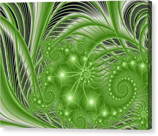Fractal Abstract Green Nature Canvas Print