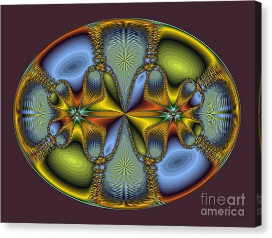 Fractal Art Egg Canvas Print