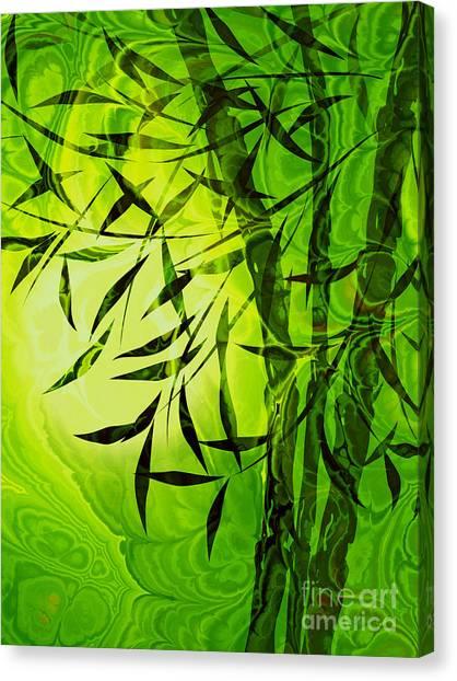 Yogi Canvas Print - Fractal Bamboo by Lutz Baar