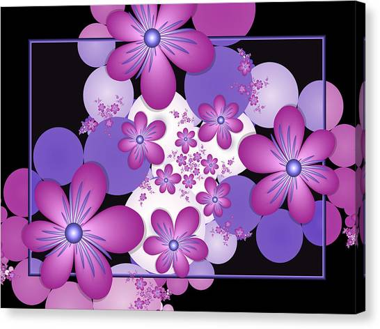 Fractal Flowers Modern Art Canvas Print