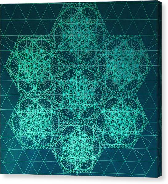 Fractal Interference Canvas Print