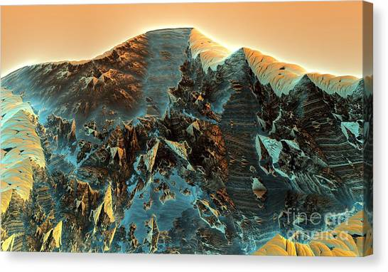 Fractal Moutain Canvas Print by Bernard MICHEL
