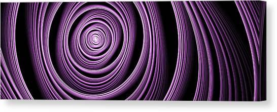 Fractal Purple Swirl Canvas Print