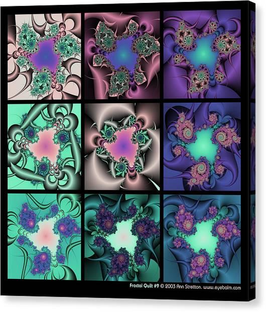 Fractal Quilt 9  Canvas Print