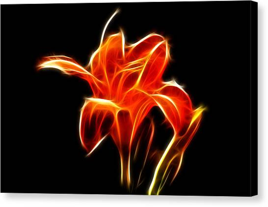 Fractaled Lily Canvas Print