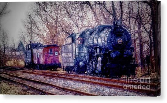 Fractalius Choo Choo Train Canvas Print