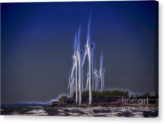 Fractalius Windmills Canvas Print