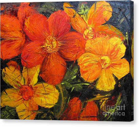 Fractured Flowers Canvas Print