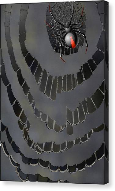 Frank Stella Canvas Print - Fractured Web by Linda Dunn