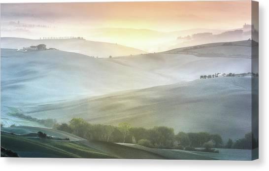 Fragile Sunrise Canvas Print by Marek Boguszak