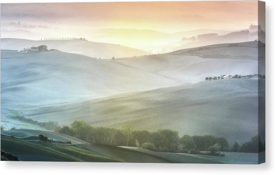 Rolling Hills Canvas Print - Fragile Sunrise by Marek Boguszak