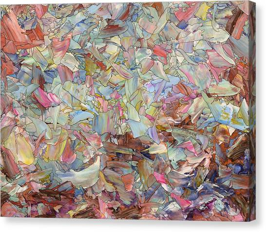 Fluids Canvas Print - Fragmented Hill by James W Johnson