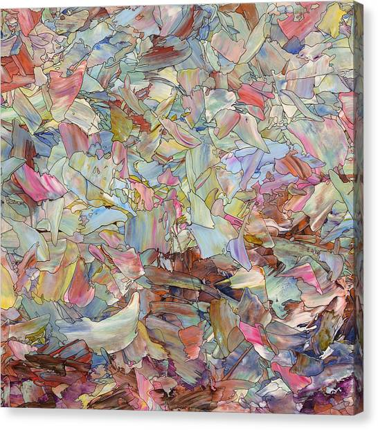 Spirit Canvas Print - Fragmented Hill - Square by James W Johnson