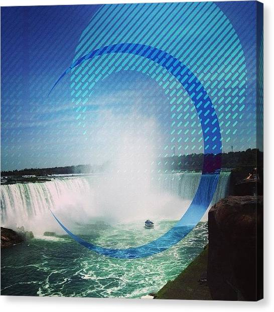 Waterfalls Canvas Print - Fragmented Niagara Falls  by Tammy Wetzel