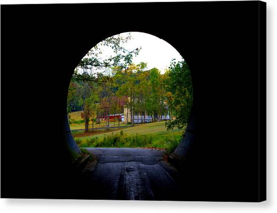 Framed By A Tunnel Canvas Print