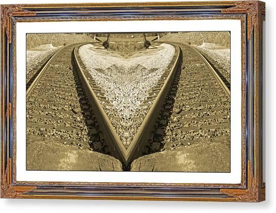 Amtrak Canvas Print - Framed Heart by Betsy Knapp