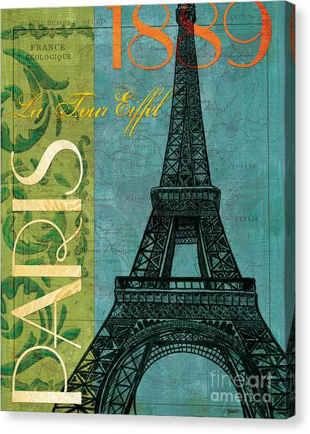 Eiffel Tower Canvas Print - Francaise 1 by Debbie DeWitt